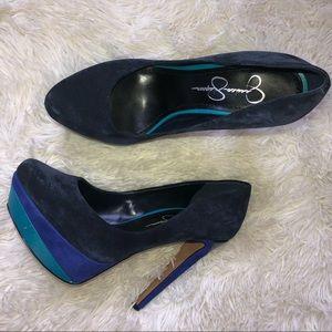 Jessica Simpson color block Heels size 7